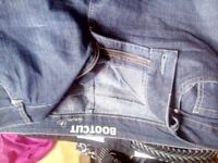 ladies bootcut denim.jeans .As new size 20