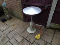 For sale a patio gas heater.In good condition but not needed
