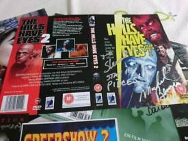 Large collection signed horror autographs photos dvds rare joblot memorabillia