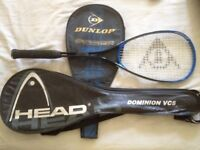 Squash Racquet and covers available