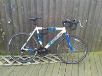 Road Bike + helmet, lock