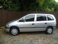 2003 Vauxhall Zafira 1.8 16v Club, 7 seater, Very good condition