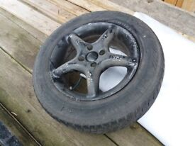 Alloy wheel for sale / Yokohama wheel and tyre 195 / 65R15 91T Only £5