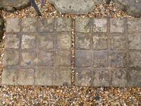 4 garden paving slabs