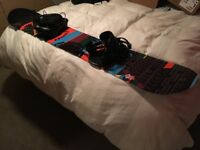 Snowboard 158cm and Bindings