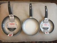 3 x Frying Pans (2 New) - £20