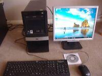 hp compaq tower pc amd duel core 2.30 ghz ,240 gb hard drive ,cd/dvd writer ,