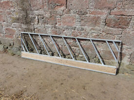 Cattle feed silage barrier galvanised angle barrier gates
