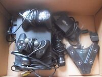 Playstation 2 with 2 controllers, mic, 4-controllor port and 3-scart selector