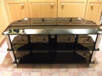 Television Sky DVD Hi Fi glass stand display unit in perfect condition - can deliver locally free