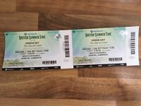 2 Green Day tickets (Barclays summer time in Hyde Park (London)
