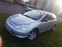1.4 HONDA CIVIC,2 FORMER KEEPERS, TIMING BELT RECENTLY CHANGED,11 MONTHS MOT, FULL SERVICE HISTORY,