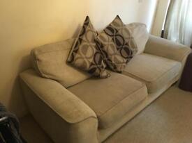 Creme Sofa with pillows