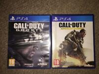 Call of duty ghost and advanced warfare bundle PS4
