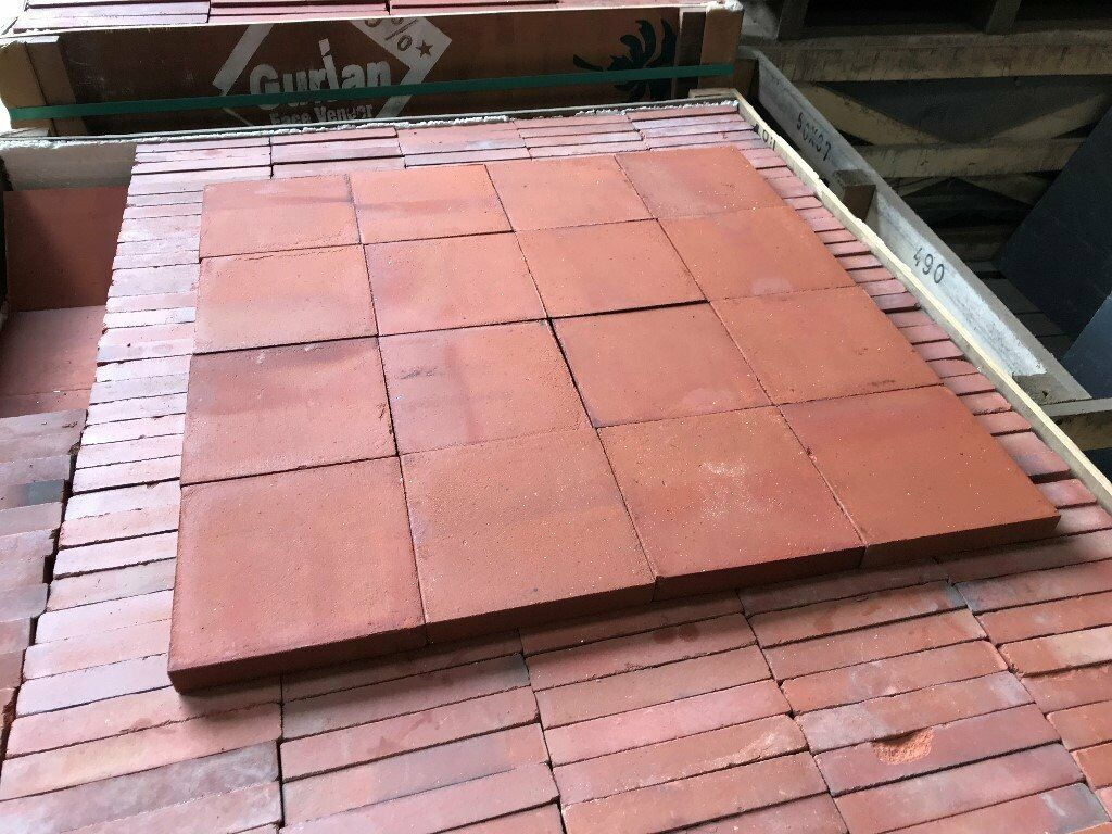 NEW 6X6 INCH RED GENUINE CLAY QUARRY TILES - LARGE STOCK  | in Winslow,  Buckinghamshire | Gumtree