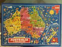 JR picture map puzzle of Australia & New Zealand - 500 pieces
