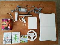 Nintendo Wii and Wii Fit plus free games