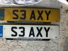 Number plate - S3 AXY