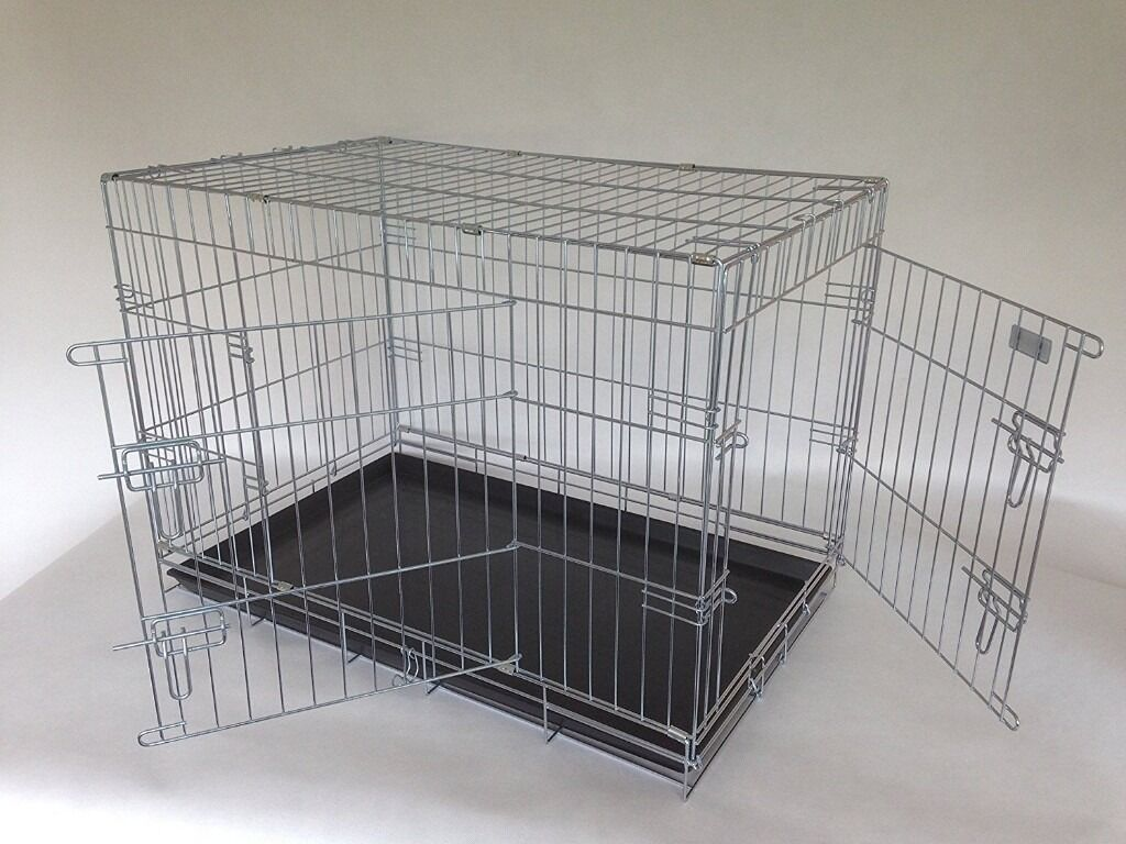 deluxe xl dog crate silver or black  brand new  in great  -  deluxe xl dog crate silver or black  brand new