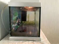 Fish tank with filter , light, pump.