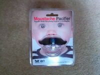 Moustache Pacifier / Dummy - new & sealed