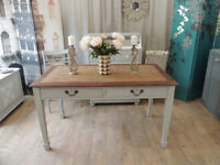 Edwardian dining table 4-6 seater in shabby chic style