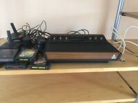 Atari 2600 Woody console and 5 games - Wimbledon