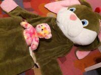 amazing and ultra rare kids sleeping bag - easter bunny/rabbit