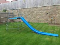 TP Activity Toys metal climbing frame with slide and slide extension