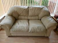 Leather Cream 2 seater Setter