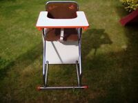 Retro Silver Cross High chair/activities chair and table