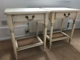 Pair of classic bedside tables - ideal for up-cycling