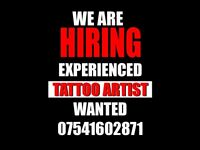 ATTOO ARTIST WANTED, FULL TIME, NOTTINGHAM!