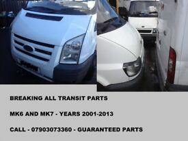 FORD TRANSIT PARTS, ALL MK6 AND MK7 PARTS 2001-2013, TRANSIT PARTS CALL...