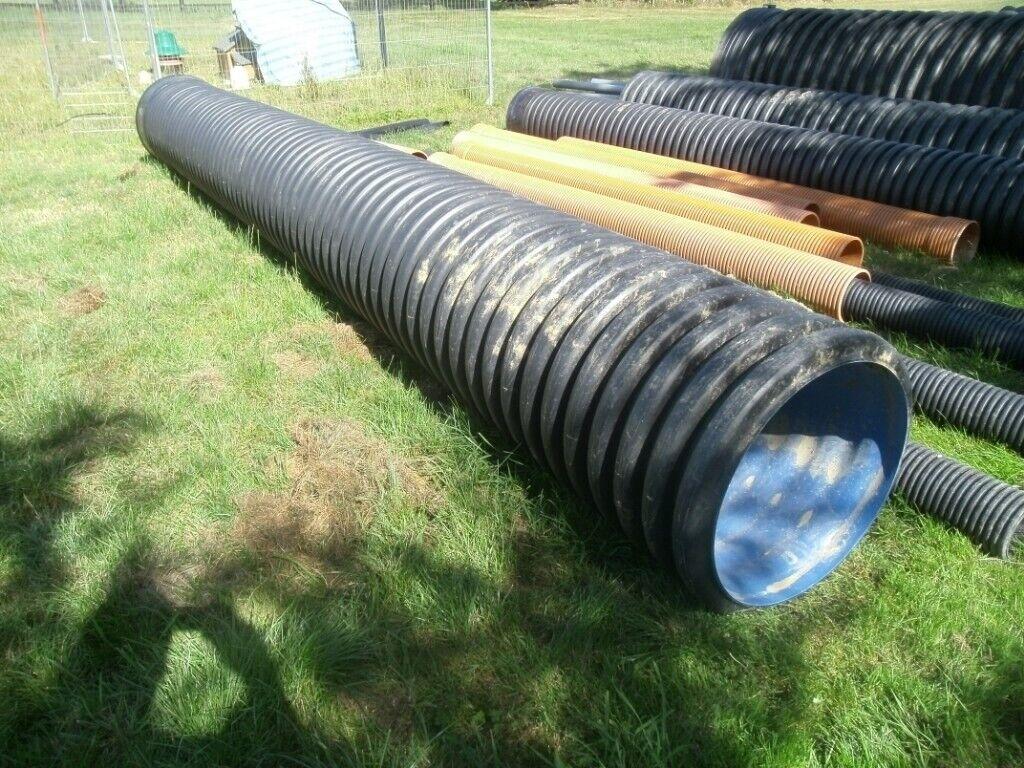 450mm internal diameter twinwall drainage pipe 6 meters long | in Bedford,  Bedfordshire | Gumtree
