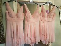 Bridesmaid dresses unworn soft shell pink
