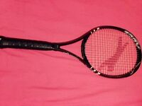black and white slazenger tennis racket