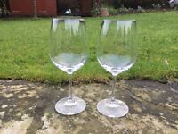 Dartington Crystal, 4 brand new red wine glasses (2 boxes of 2)