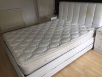 Leather Ottoman Kingsize Bed frame and matress