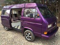 VW T25 Campervan Purple