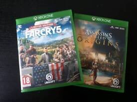 Assassin's Creed Origins & FarCry5 xbox one. ONLY PLAYED ONCE