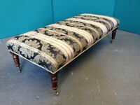 STUNNING REPRODUCTION REGENCY STYLE STOOL, BENCH SEAT, FOOT, SOFA, CHAIR, COUCH