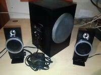 Pc laptop bass speaker system creative inspire