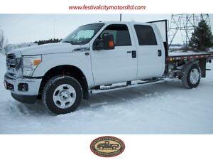 2014 Ford F-550 XL | 12' Flatbed | 4x4 | DIESEL