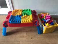 Giant Mega bloks Lego with folding table