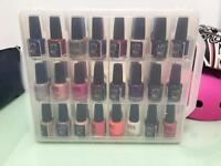 33 bottles nail polish with case