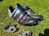 Carnac shoes with look keo pedals