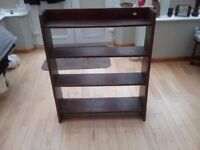Vintage solid oak bookcase