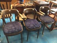 Bentwood chairs x4 pub man cave