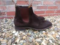 R N Williams brown suede boots size eleven and a half